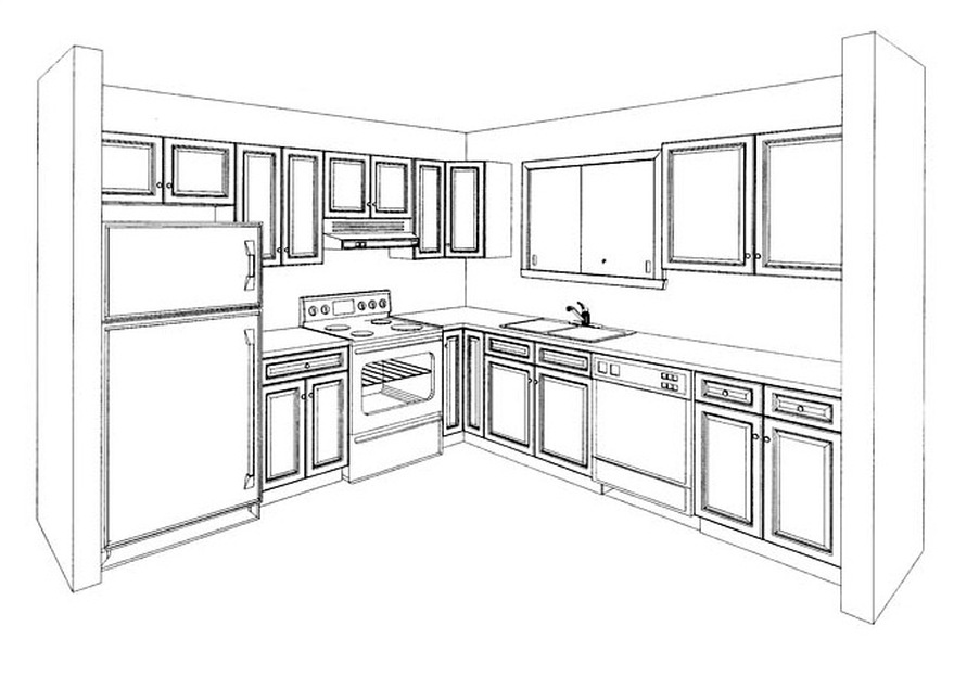 Kitchen Drawing Perspective perspective drawing - i n s p i r e d  c